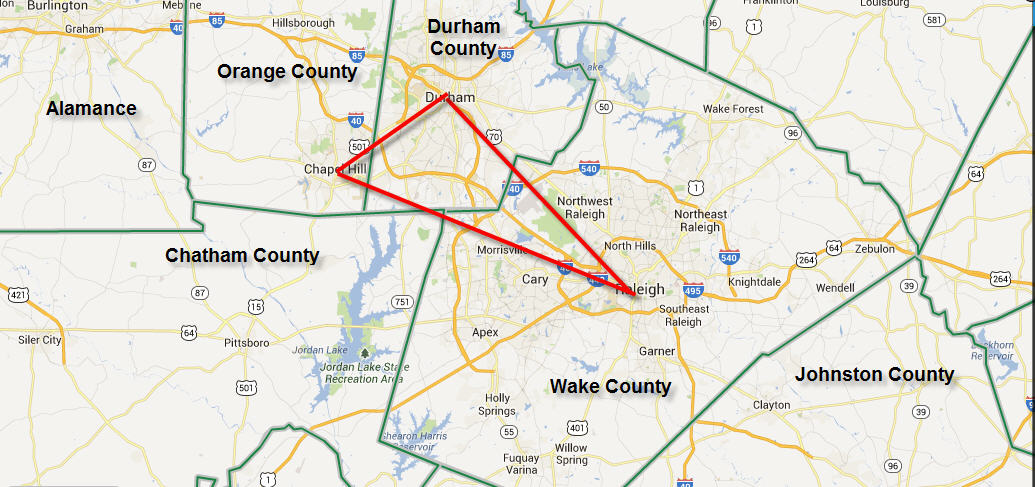 triangle area nc map Universities In The Triangle A Guide For Prospective Residents